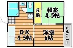 コーポ野田[2階]の間取り