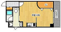 JR東海道・山陽本線 六甲道駅 徒歩1分の賃貸マンション 2階ワンルームの間取り
