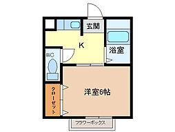 三重県四日市市野田1丁目の賃貸アパートの間取り