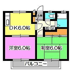下田ハイツ[2階]の間取り