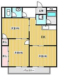 サープラス寺沢(鋳物師屋)[206号室号室]の間取り