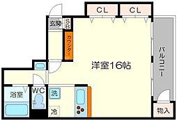 グランドマンションニュー大阪[8階]の間取り