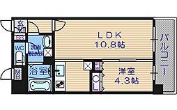 大阪府大阪市阿倍野区松崎町4丁目の賃貸マンションの間取り