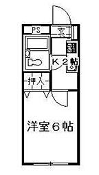 東京都新宿区新宿7丁目の賃貸アパートの間取り