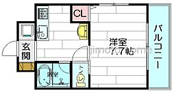 ヴァンクリーフ[1階]の間取り
