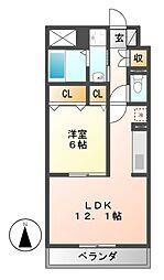 ディアコートKII[3階]の間取り