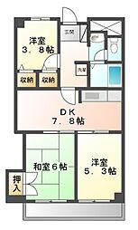 神奈川県川崎市宮前区馬絹3丁目の賃貸マンションの間取り
