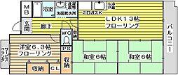 大阪府大阪市東淀川区小松5丁目の賃貸マンションの間取り