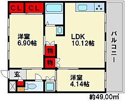 光第1ビル[3階]の間取り