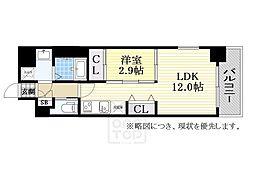 La・Forme HOMMACHI WEST[2階]の間取り