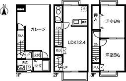 [テラスハウス] 愛知県一宮市猿海道2丁目 の賃貸【/】の間取り