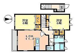 シャトー・シモハタ4[2階]の間取り