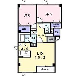 ハイツペヂ[2階]の間取り
