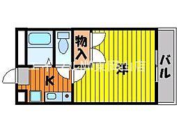 岡山県岡山市東区大多羅町の賃貸マンションの間取り