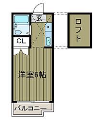 エクセレントコート東林[2階]の間取り