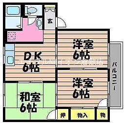 岡山県倉敷市片島町の賃貸アパートの間取り