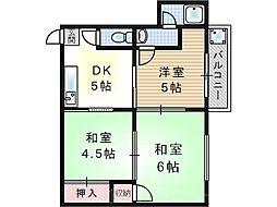 千寿マンション[2階]の間取り