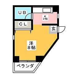 レヂデンス鈴木 A[3階]の間取り