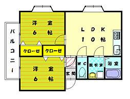 テラスアベニュー[2階]の間取り