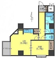 ロイヤル御池[4階]の間取り