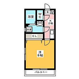リブレア箱崎駅前 C棟[1階]の間取り