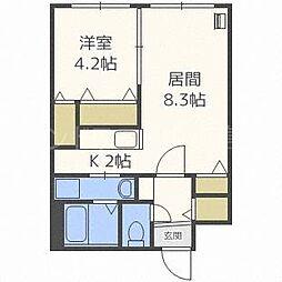 北海道札幌市豊平区平岸四条4丁目の賃貸マンションの間取り