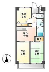 セントラルアイル[4階]の間取り
