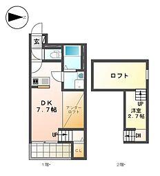 クリークコートII[2階]の間取り