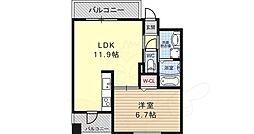 シークリサンス神戸 9階1LDKの間取り