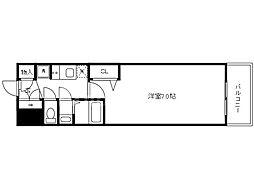 Osaka Metro中央線 九条駅 徒歩2分の賃貸マンション 12階1Kの間取り