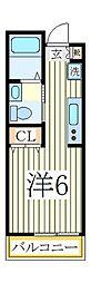 ヒューマンパレス南流山VII A棟[2階]の間取り
