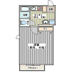 埼玉県ふじみ野市西2丁目の賃貸マンションの間取り