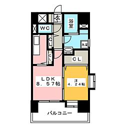 ソシオス平尾[9階]の間取り