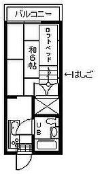久世アパートB棟[301号室]の間取り