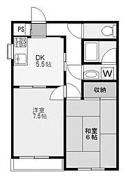 神奈川県川崎市麻生区万福寺1丁目の賃貸マンションの間取り