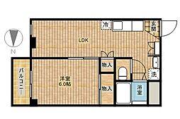 メルベイユ新城[2階]の間取り