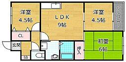 ファームハイツ[2階]の間取り