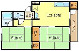 大阪府堺市西区上野芝町6丁の賃貸マンションの間取り