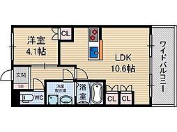 ラ・パス[1階]の間取り
