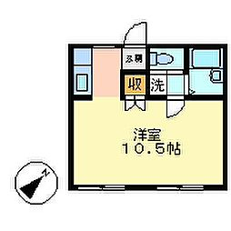 コーポYAMADA[101号室]の間取り
