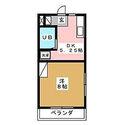 ラッセルコートA[4階]の間取り