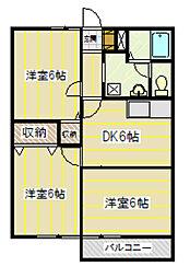 清泉地ハイツ[2階]の間取り