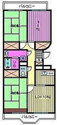 開明ロイヤルマンション[1階]の間取り