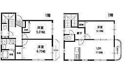[テラスハウス] 神奈川県横浜市戸塚区上品濃 の賃貸【/】の間取り