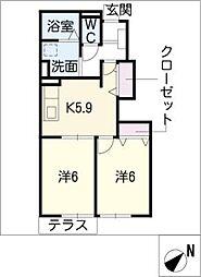 ビューラーIII[1階]の間取り