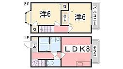 [テラスハウス] 兵庫県明石市大久保町西島 の賃貸【/】の間取り