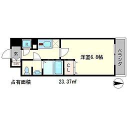 アクアプレイス京都聖護院[6階]の間取り