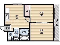 東洋プラザ野江内代[3階]の間取り