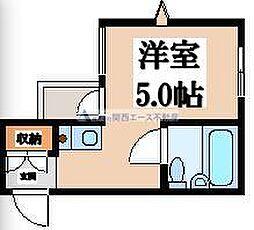 JPアパートメント生野Ⅱ[3階]の間取り