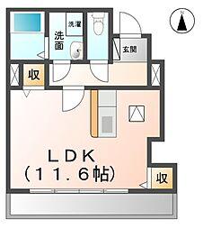 愛知県あま市本郷花ノ木の賃貸アパートの間取り